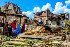 NEPAL-EARTHQUAKE-2015 Fotografia Stock
