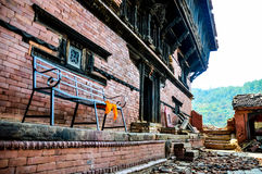 Nepal earthquake. Architecture broken building city construction Stock Photo