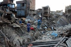 NEPAL-EARTHQUAKE-DISASTER Immagine Stock