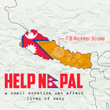 Nepal earthquake 2015 help Royalty Free Stock Images