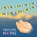 Nepal earthquake 2015 help Royalty Free Stock Photography