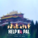 Nepal earthquake 2015 help Stock Image
