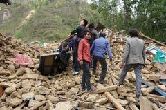 Nepal earthquake. In Kathmandu APRIL 25, 2015 royalty free stock photos