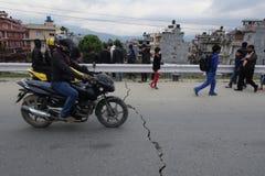 Nepal earthquake. In Kathmandu APRIL 25, 2015 royalty free stock image