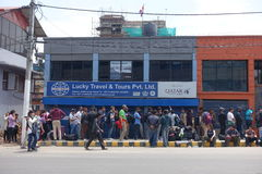 Nepal earthquake. In Kathmandu APRIL 25, 2015 stock photo