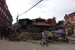 Nepal earthquake. In Kathmandu APRIL 25, 2015 stock images