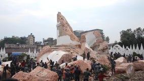 Nepal earthquake in Kathmandu stock video footage