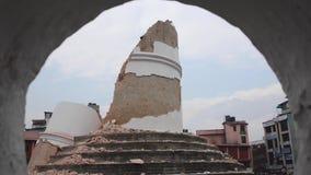 Nepal earthquake in Kathmandu stock video