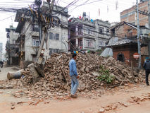 Nepal earthquake in Kathmandu Royalty Free Stock Photo