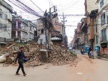 Nepal earthquake in Kathmandu Royalty Free Stock Photo