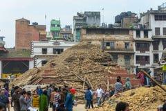 Nepal earthquake in Kathmandu Stock Photography