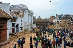 Nepal earthquake in Kathmandu Royalty Free Stock Images
