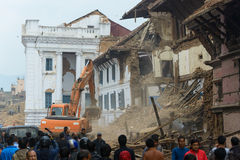 Nepal earthquake in Kathmandu Stock Photography