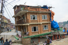 Nepal earthquake in Kathmandu Stock Photos