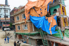Nepal earthquake in Kathmandu Royalty Free Stock Photos