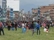 Nepal earthquake in Kathmandu Royalty Free Stock Photography