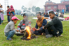 Nepal earthquake in Kathmandu Stock Images