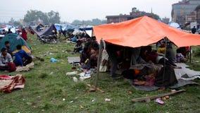 Nepal earthquake in Kathmandu stock footage