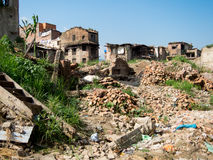Nepal Earthquake Rubble Royalty Free Stock Photography