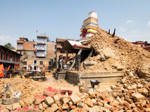 Nepal Earthquake Royalty Free Stock Photography
