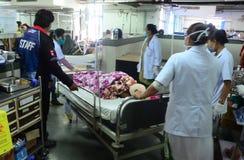 NEPAL-EARTHQUAKE-VICTIMS 库存图片