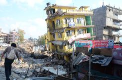 NEPAL-EARTHQUAKE-VICTIMS Stock Images