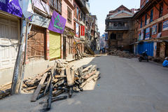 Nepal earthquakes Stock Images