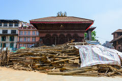 Nepal earthquakes Royalty Free Stock Photo