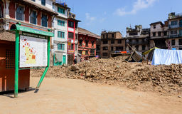 Nepal earthquakes Royalty Free Stock Image