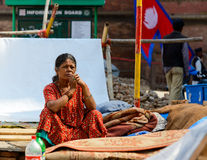 Nepal earthquakes Royalty Free Stock Photo