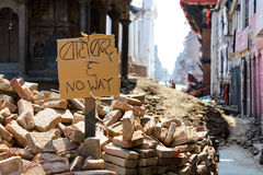 Nepal earthquakes Royalty Free Stock Photography