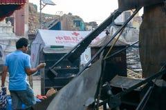 Nepal earthquakes Royalty Free Stock Image