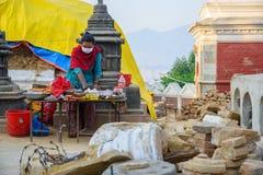 Nepal earthquakes Stock Photos