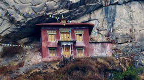 Nepal, edificios históricos hermosos, manera a Everest foto de archivo