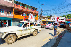 Nepal 2017 Elections Communist Party Supporters Royalty Free Stock Image