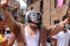Nepal festival Royaltyfria Bilder