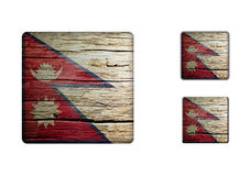 Nepal Flag Buttons Stock Images