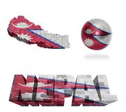 Nepal Symbols Royalty Free Stock Photo