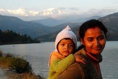nepal folk Arkivfoto
