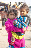 Nepal girl. Carried her younger sister Royalty Free Stock Image