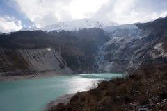Nepal. Glacial lake at mountain Manaslu bottom Royalty Free Stock Images