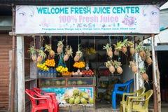 Nepal 23 2017 Grudzień: owoc sklep w Kathmandu miasteczku Obraz Stock