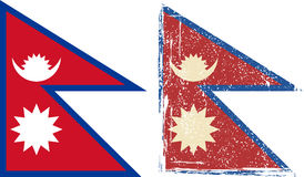 Nepal grunge flag. Vector illustration Stock Photo