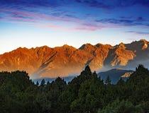 Nepal Helambu mountain range sunrise royalty free stock photos