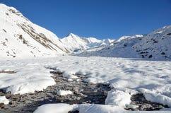 Nepal, Himalaya, Cho Oyu máximo, 8210 metros sobre nivel del mar fotografía de archivo libre de regalías