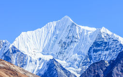 Nepal Himalaya. View of the snow mountain in Himalaya range in Langtang National Park in Nepal stock photography