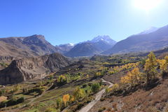 Nepal Himalayas Arkivbilder