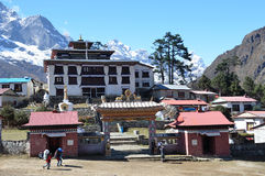 Nepal, Himalayas, Buddhist monastery in the village of Tenboche Royalty Free Stock Photos