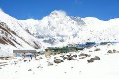 Nepal, Himalayas, villlage Gokio, peak Cho Oyu, 8210 meters above sea level Stock Photos