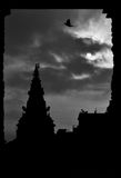 Nepal-Hinduismus-Buddha-Steintempelquadrat Lizenzfreie Stockbilder